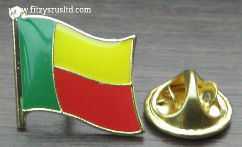 Benin Country Flag Lapel Hat Cap Tie Pin Badge / Brooch Republic Porto-Novo New
